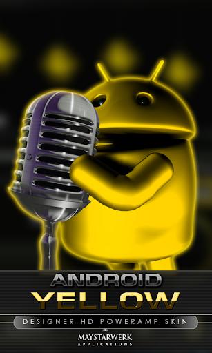 poweramp skin android yellow