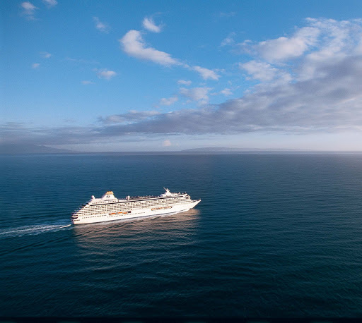 Crystal-Serenity-At-Sea - Tranquil seas and beautiful, sunny days await you aboard Crystal Serenity.