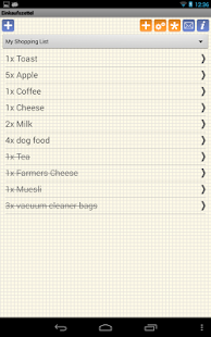 Shopping Grocery List - Free - screenshot thumbnail
