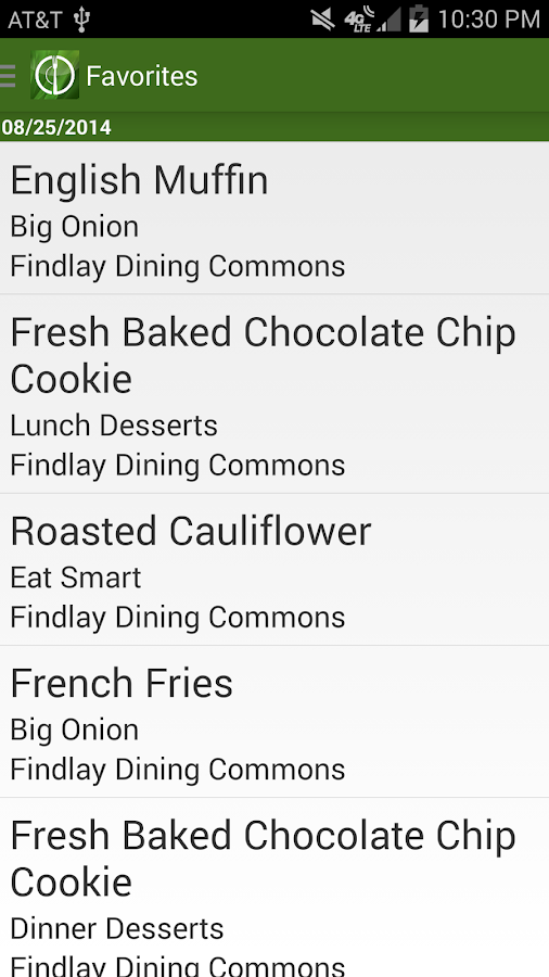Dining@PSU- screenshot