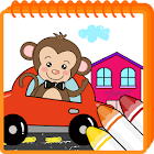 Coloring game - Vehicle land icon