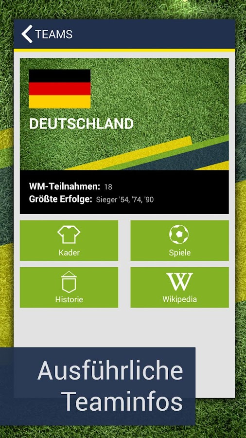 Pocket WM 2014 – Fussball live - screenshot