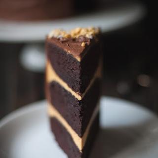 Honeycomb Crunch Chocolate Cake.