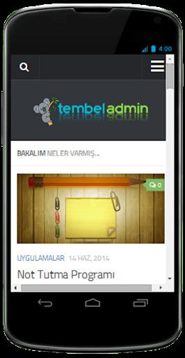 Tembel Admin
