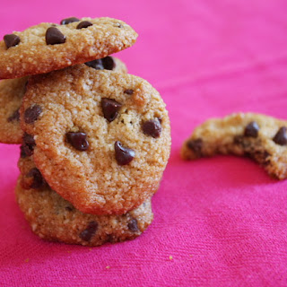 Almond- Chocolate Chip Cookies.