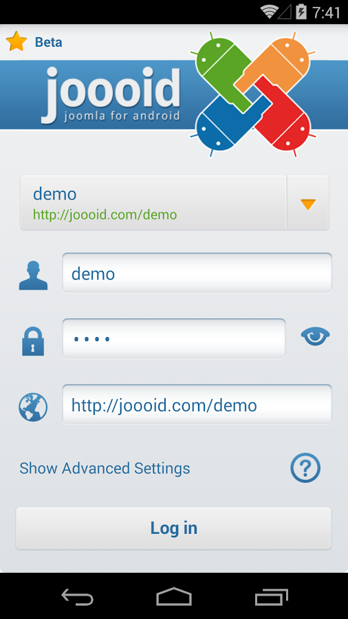 Joooid! Joomla for Android - screenshot