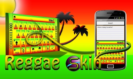 SlideIT Reggae Skin - screenshot thumbnail