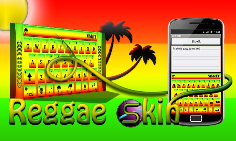SlideIT Reggae Skin - screenshot
