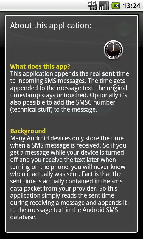 SMS Sent Time- screenshot