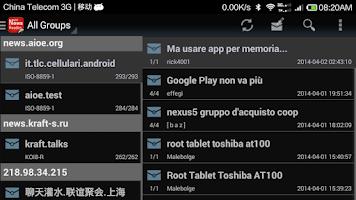 Screenshot of Usenet NewsReader