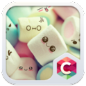 Cute Marshmallow Cartoon Theme icon