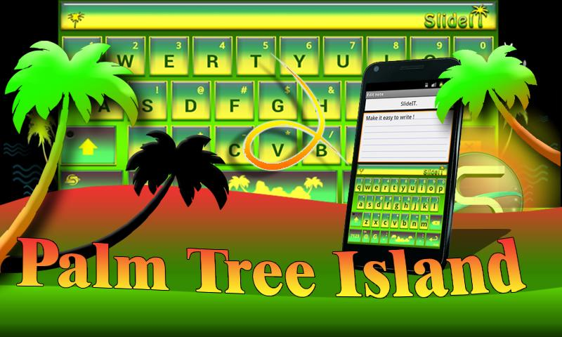 SlideIT Palm Tree Island Skin - screenshot