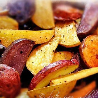 Roasted Red, Gold & Blue Potatoes