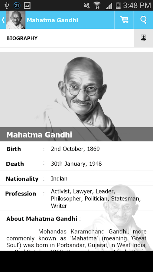 Mahatma Gandhi Quotes  Android Apps On Google Play Mahatma Gandhi Quotes Screenshot