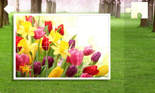 Jigsaw puzzle. Spring