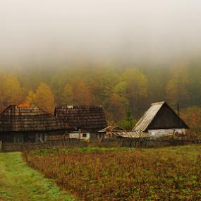Autumn in Lunca Bradului, Transylvania, Romania by Ioan-Dan Petringel - Landscapes Mountains & Hills ( old house, autumn, romania, landscape, transylvania )