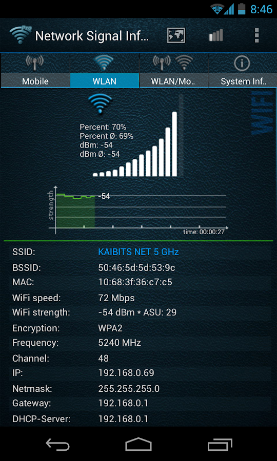 Network Signal Info - screenshot