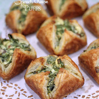 Spinach Cream Cheese Pastries Puffs Recipes.