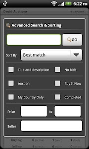 Droid Auctions for eBay screenshot 6