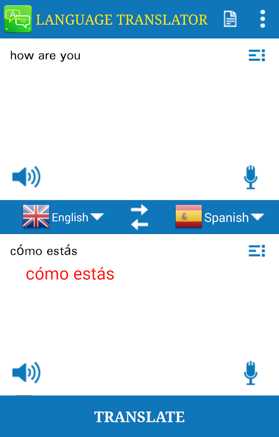 Language Translator- screenshot