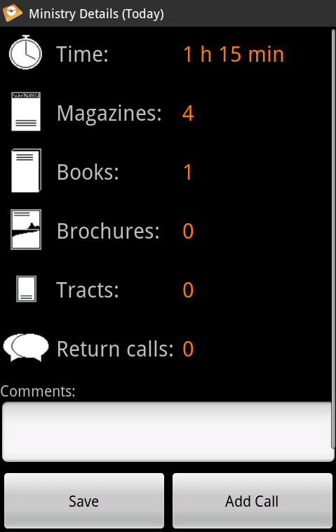 MyService - screenshot