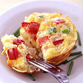 Individual Ham, Cheese and Veggie Frittatas.