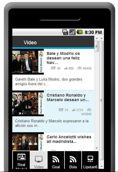 Berita Real Madrid Terlengkap - screenshot