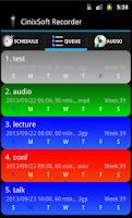 Screenshot of Secure Schedule Voice Recorder