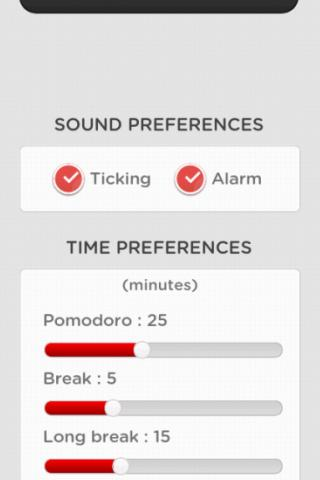 It's Pomodoro Time!- screenshot