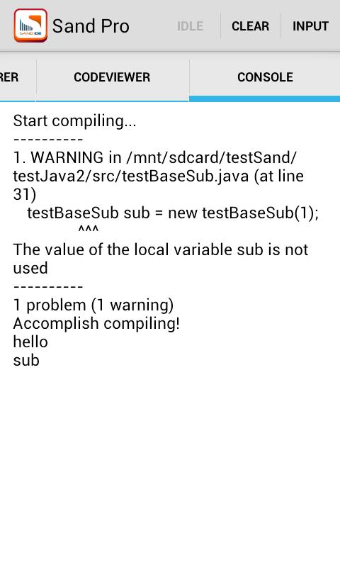 Sand IDE Pro for Java - screenshot