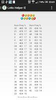 Screenshot of Lotto Helper IE