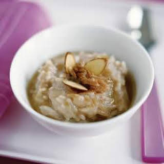 Cinnamon Almond Rice Pudding.