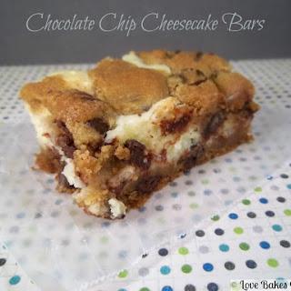 Chocolate Chip Cheesecake Bars.