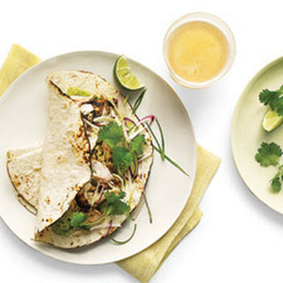 Grilled-Fish Tacos with Radish-Cabbage Slaw.