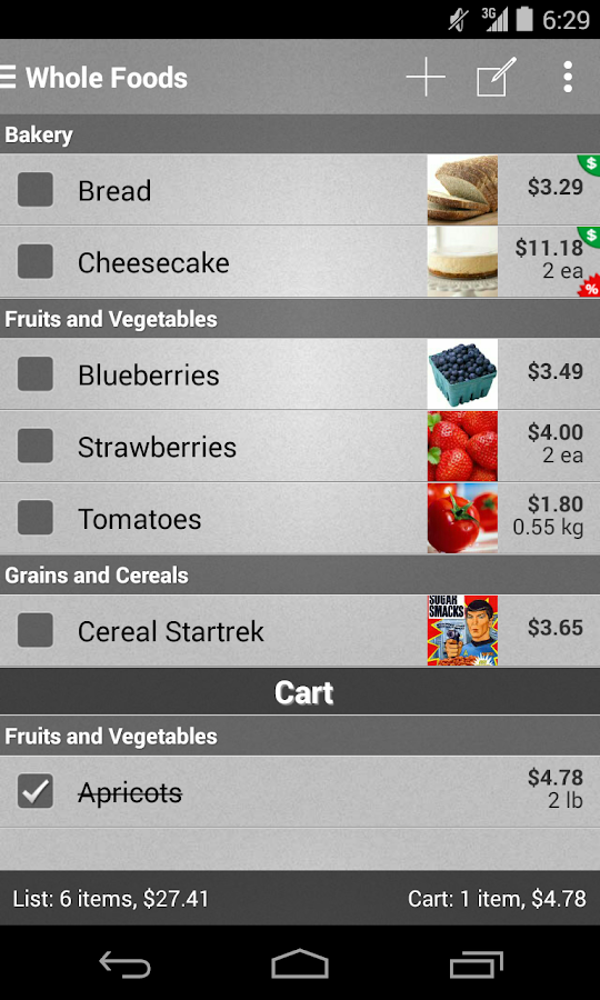 Mighty Grocery Shopping List - screenshot