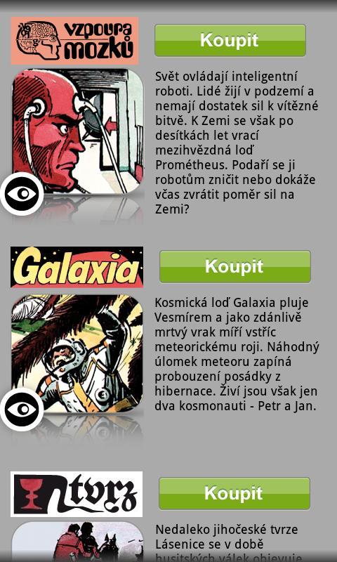 Vzpoura mozků, Galaxia a Tvrz- screenshot