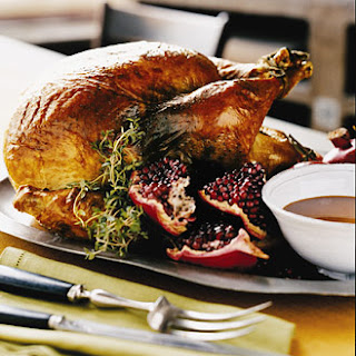 Roast Turkey with Pomegranate Gravy