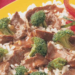 Stir-Fried Beef and Broccoli.
