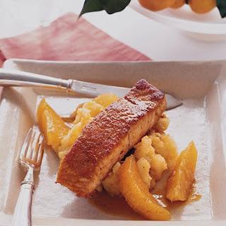 Orange Crusted Salmon with Parsnip Puree
