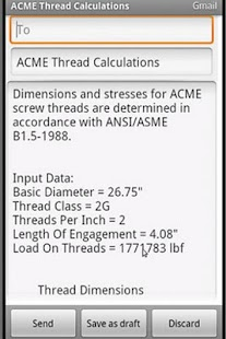 ACME Thread Calculation - screenshot thumbnail