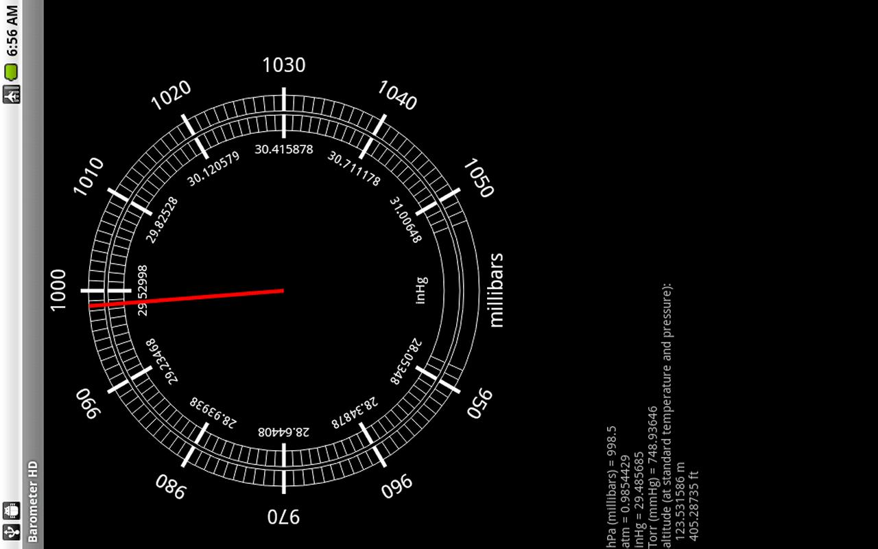 Barometer HD - screenshot