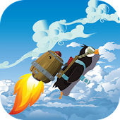 Racing Penguin Flying Free