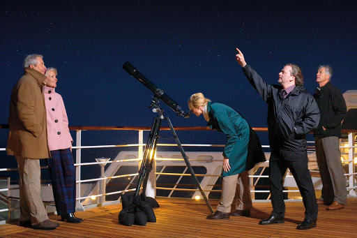 Spend some time stargazing, led by a member of the Royal Astronomical Society, aboard your cruise on Queen Mary 2.