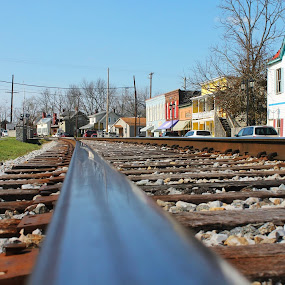 Midway, KY by Andy Bond - City,  Street & Park  Historic Districts ( ky, railroad, street, perspective, midway, historic )
