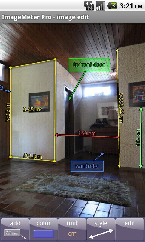 ImageMeter Pro - photo measure - screenshot