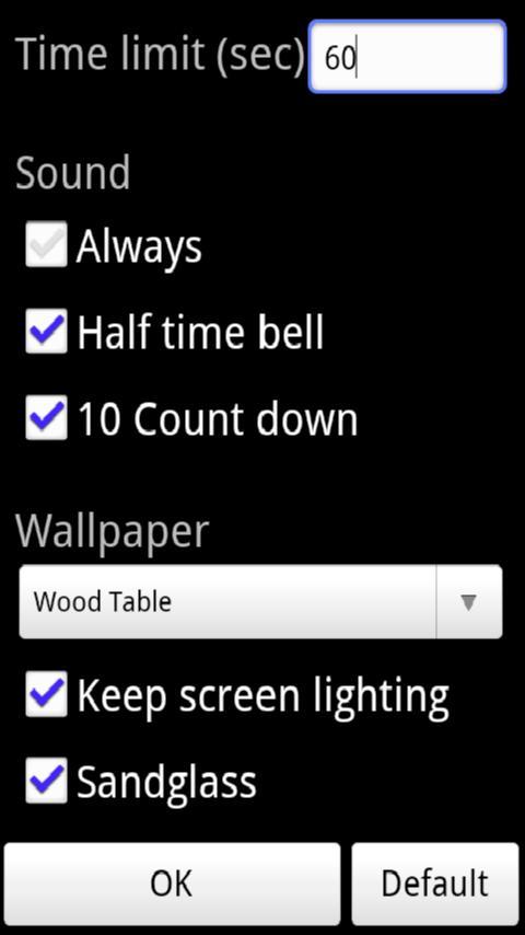 Rummikub Timer - screenshot