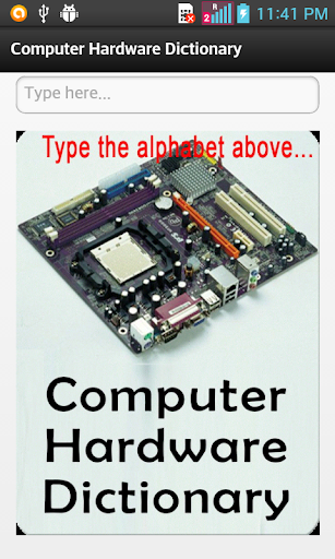 Computer Hardware Dictionary
