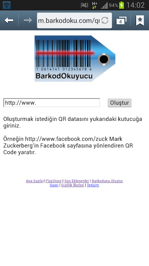 Barkod Okuyucu - screenshot