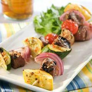 Beef & Vegetable Kabobs.