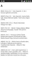 Screenshot of İsimler Sözlüğü